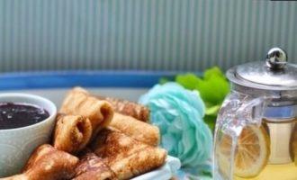 Блины на грушевом пюре кулинарный рецепт