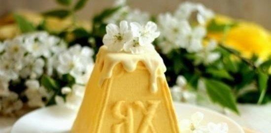 Лимонно-маковая творожная пасха кулинарный рецепт