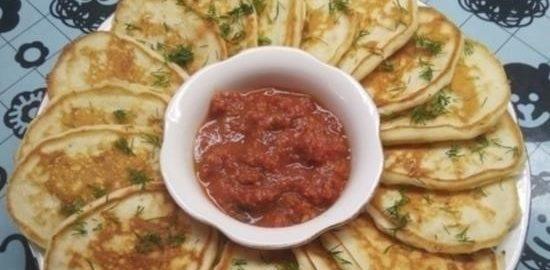 Оладьи с плавленым сыром кулинарный рецепт