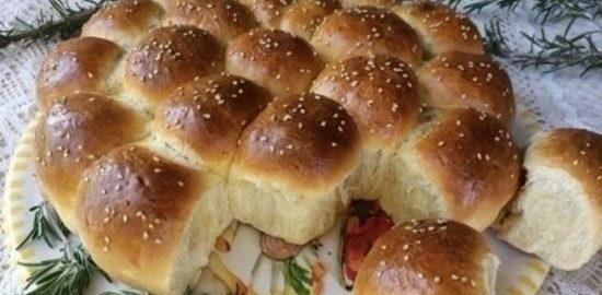 Отрывной пирог «Солнечный» кулинарный рецепт