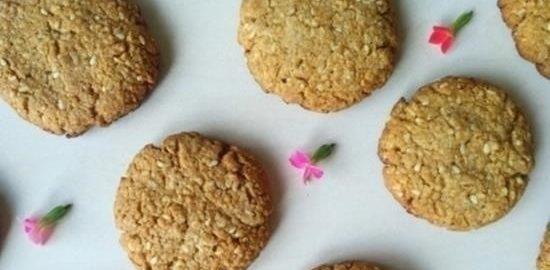 Овсяное печенье с кунжутом кулинарный рецепт