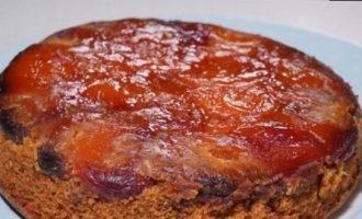 Пирог-перевертыш с курагой и пеканом кулинарный рецепт