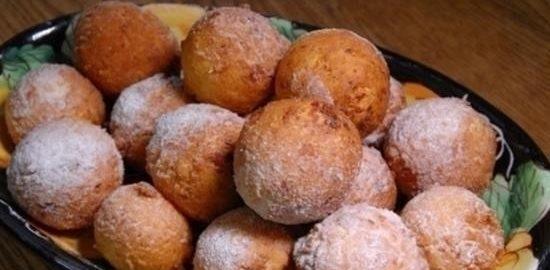Пончики из зерненого творога кулинарный рецепт