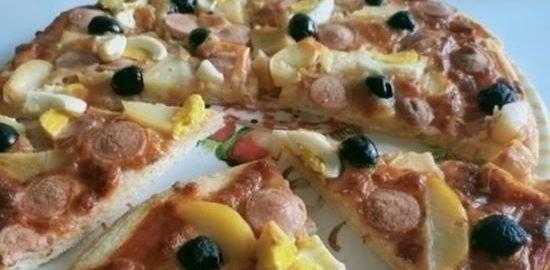 Тесто для пиццы с семолиной кулинарный рецепт
