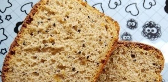 Цельнозерновой хлеб с черным тмином кулинарный рецепт