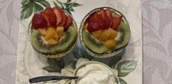 Творожная запеканка с фруктами кулинарный рецепт