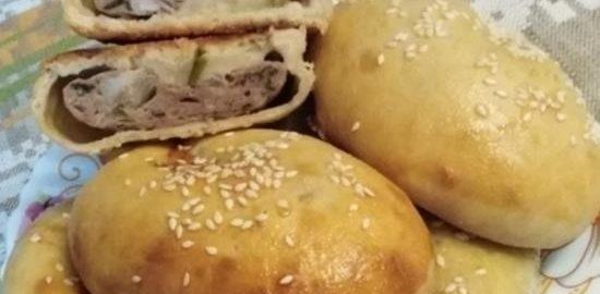 Бездрожжевые пирожки с куриным фаршем кулинарный рецепт