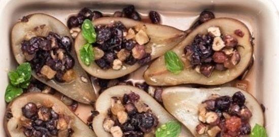 Фаршированные груши в медовой глазури кулинарный рецепт