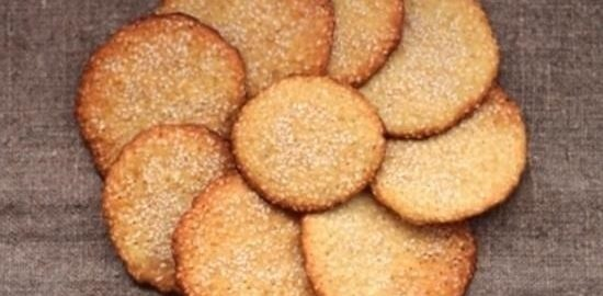 Хрустящее кунжутное печенье кулинарный рецепт