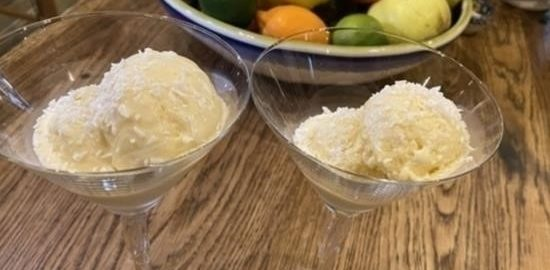 Кокосовое мороженое кулинарный рецепт