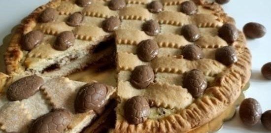 Кростата с творогом и шоколадом кулинарный рецепт