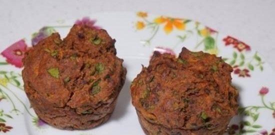 Маффины с морковью, шпинатом и халапеньо кулинарный рецепт