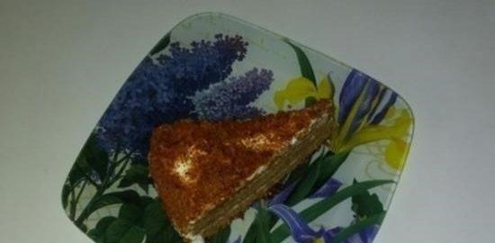 Медовик со сметанно-сливочным кремом кулинарный рецепт