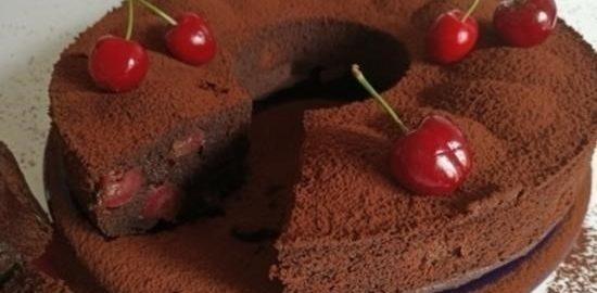 Шоколадный пирог с черешней кулинарный рецепт