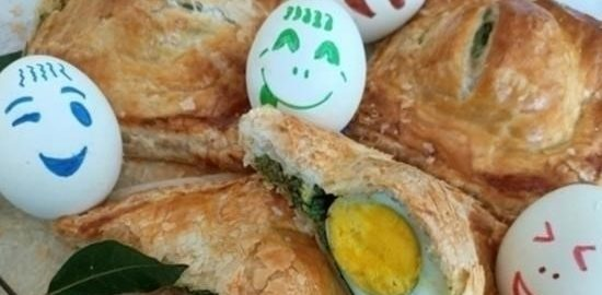 Слойки с яйцом кулинарный рецепт