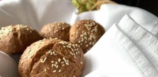 Творожные булочки из цельнозерновой муки кулинарный рецепт