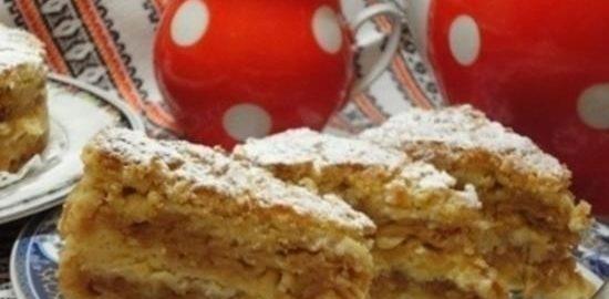 Ленивый яблочный пирог кулинарный рецепт