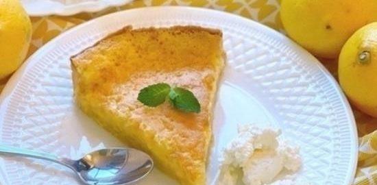 Лимонно-ванильный пирог кулинарный рецепт