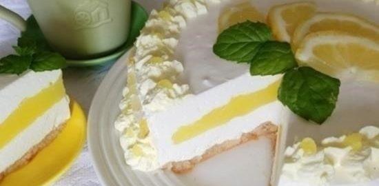 Лимонный чизкейк без выпечки кулинарный рецепт