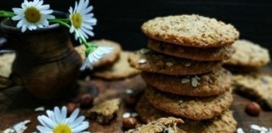 Овсяное печенье с фундуком и шоколадом кулинарный рецепт