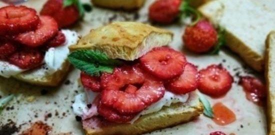 Печенье с клубникой кулинарный рецепт