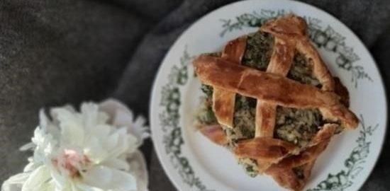 Рыбный пирог с сайрой кулинарный рецепт