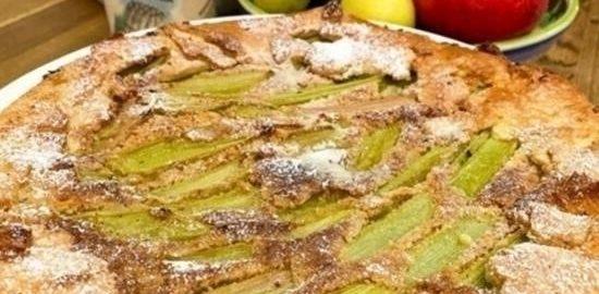 Тарт с ревенем и ореховым кремом кулинарный рецепт