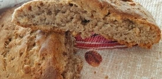Цельнозерновой хлеб с ржаной мукой и овсяными хлопьями кулинарный рецепт