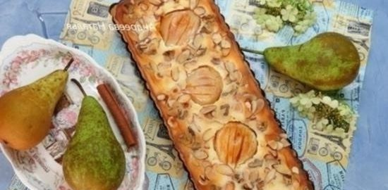 Грушевый тарт с маскарпоне и орехами кулинарный рецепт