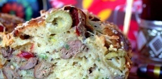 Кекс печеночный с оливками кулинарный рецепт
