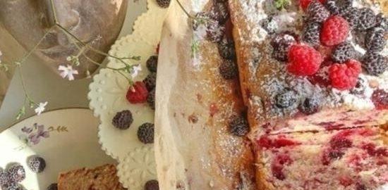 Малиновый кекс кулинарный рецепт
