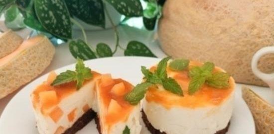Мини-чизкейк с дыней кулинарный рецепт