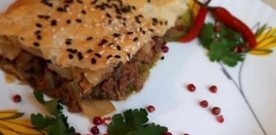 Пирог с пряной начинкой кулинарный рецепт