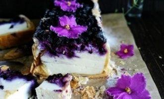 Пирог с рикоттой и черникой кулинарный рецепт