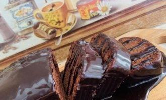 Шоколадный кекс из горячего теста кулинарный рецепт