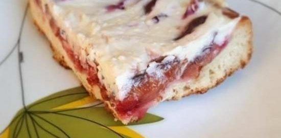 Сливовый пирог с розовым перцем и маскарпоне кулинарный рецепт