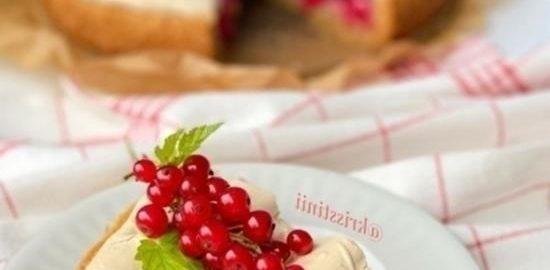 Тарт с красной смородиной и меренгой кулинарный рецепт