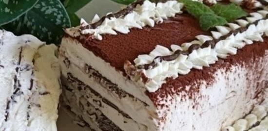 Торт-мороженое с шоколадом кулинарный рецепт