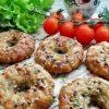 Творожно-сырные бублики с зеленью и чесноком кулинарный рецепт