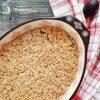 Крамбл овсяный с яблоками и сливой кулинарный рецепт