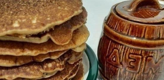 Мини-блинчики на гречневой муке кулинарный рецепт