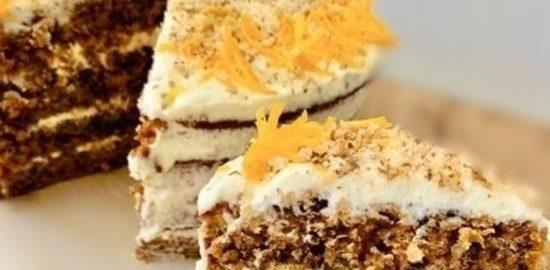 Морковный торт с кремом «Чиз» кулинарный рецепт