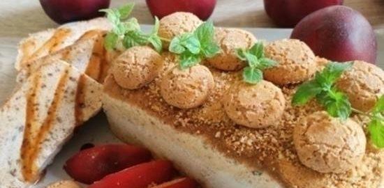 Нектариновое семифредо кулинарный рецепт