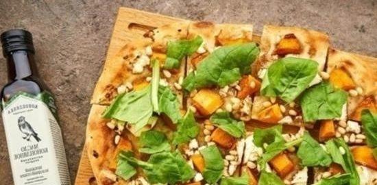 Пинца с тыквой, шпинатом и сыром кулинарный рецепт