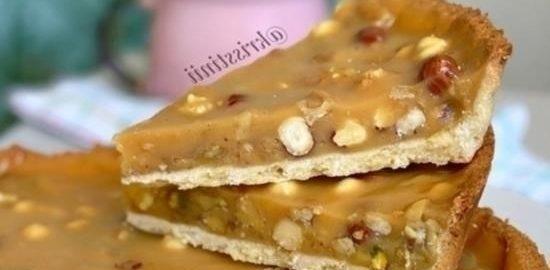 Тарт с орехами и шоколадной карамелью кулинарный рецепт