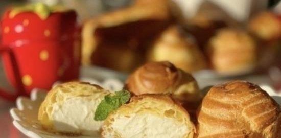 Заварные пирожные с кремом из маскарпоне кулинарный рецепт