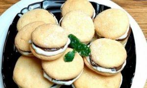 Бисквитное пирожное с двойной начинкой кулинарный рецепт
