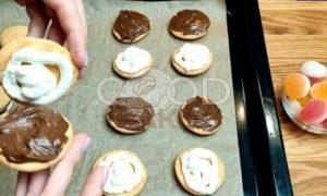 Бисквитное пирожное с двойной начинкой рецепт шаг 5