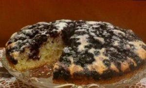 Черничный пирог с лимонной цедрой кулинарный рецепт