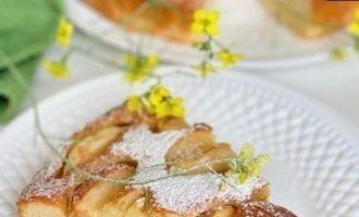 Яблочный пирог на сметане кулинарный рецепт